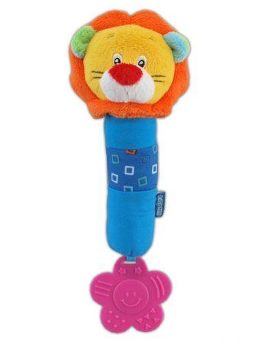 Baby Mix lev plyšová hračka s chrastítkem