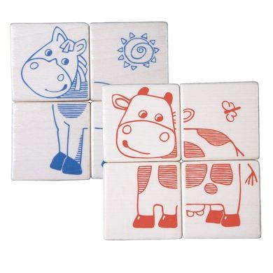 HABA Kostkové puzzzle domácí zvířata cena od 249 Kč