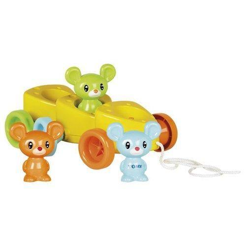 TOMY Sýrové autíčko s myškami cena od 399 Kč