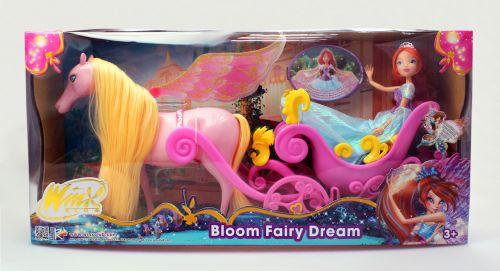 Rainbow: Winx: kočár s koněm a princezna Bloom (1/2) cena od 1259 Kč