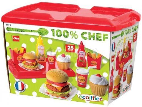 Ecoiffier Hamburger set cena od 349 Kč