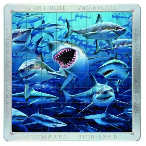 Piatnik: 64 d. 3D Magnetické puzzle Žraloci
