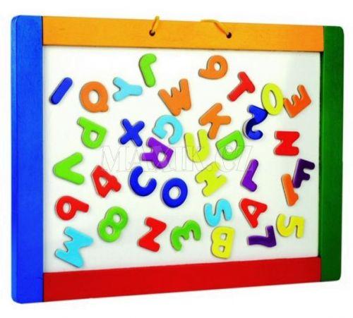 Magnetická závěsná tabule s písmenky, oboustranná