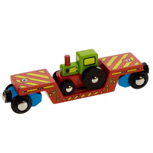 MAXIM Bigjigs Vagon s traktorem cena od 199 Kč