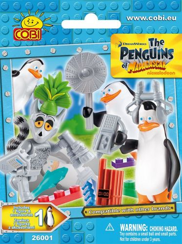 COBI Tučňáci z Madagascaru Figurka s doplňky 26001 cena od 57 Kč