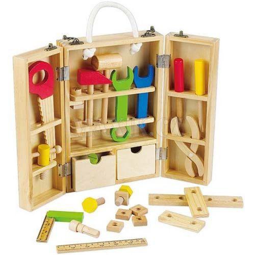 Teddies Dřevěné nářadí v kufříku 25 ks cena od 446 Kč