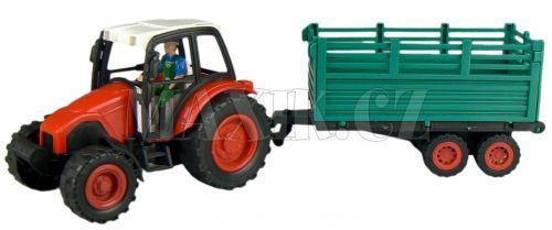 Teddies Traktor s vlečkou na setrvačník cena od 90 Kč