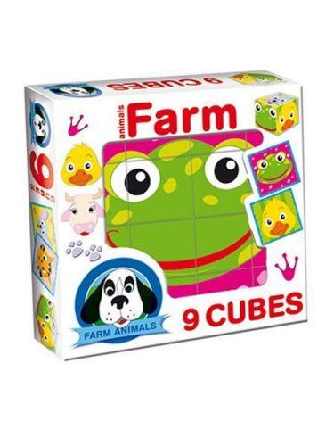 DOHANY Skládací obrázkové kostky Farm animals cena od 105 Kč