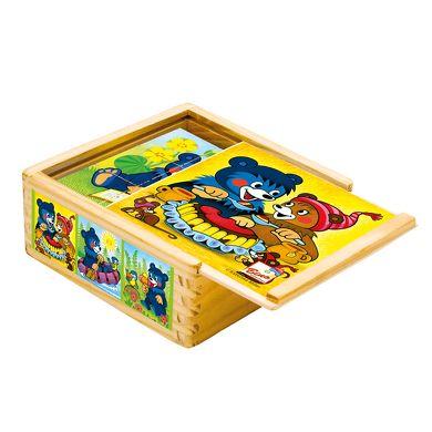 Bino Dřevěné obrázkové kostky Baribal cena od 165 Kč