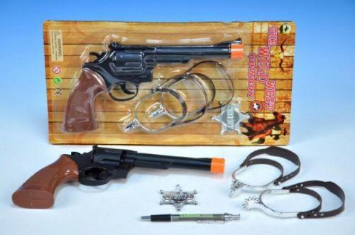 Mikro hračky Pistole klapací s opaskem a odznakem na kartě cena od 71 Kč