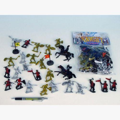 Mikro hračky Rytíři sada 32 ks cena od 96 Kč
