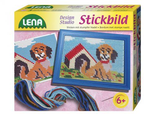 LENA Vyšívací obrázek pes cena od 98 Kč