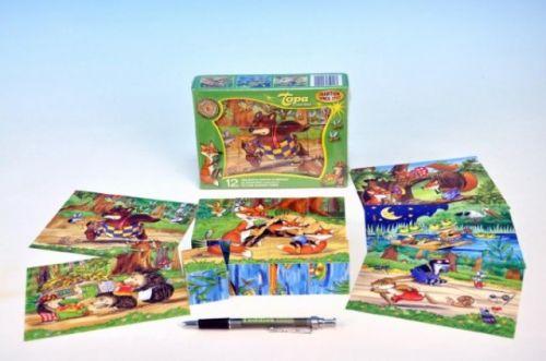 TOPA Kostky kubus Medvídek a kamarádi dřevo cena od 165 Kč