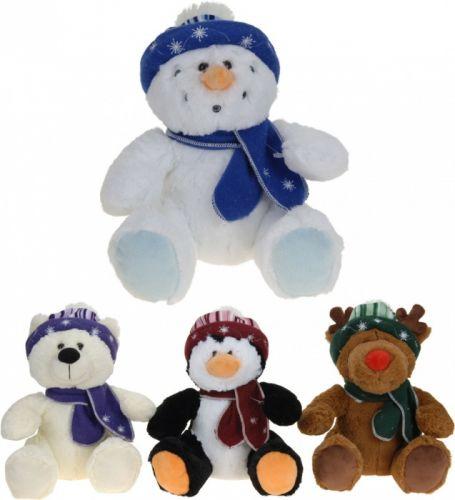 Koopman Vánoční plyšáci sněhulák, sob, méďa, tučňák v čepici cena od 0 Kč