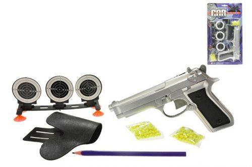Teddies pistole na kuličky s terčem cena od 89 Kč