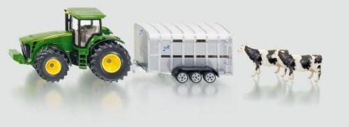 SIKU Traktor John Deere s přívěsem pro přepravu dobytka cena od 478 Kč