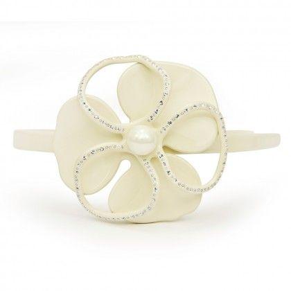 Artina Luxury Čelenka s velkým květem a s krystaly Swarovski
