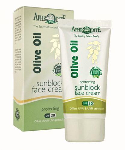 Aphrodite Skin Care Olivový opalovací krém na obličej SPF30 50 ml