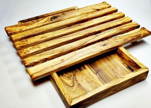 ELIXIR Crete Podložka na krájení pečiva z olivového dřeva 32 x 19 cm