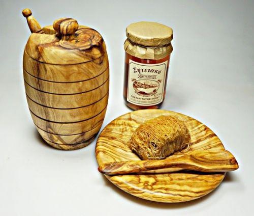 ELIXIR Crete Dóza a lžička na med z olivového dřeva cena od 634 Kč