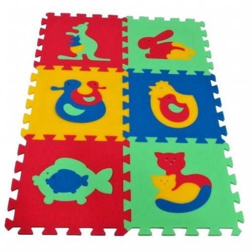 Malý Genius Pěnový koberec MAXI 6 Zvířata 1