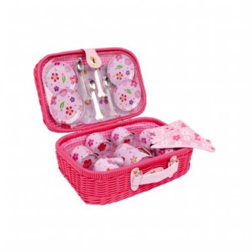 Legler Piknikový kufřík dětského nádobí Květiny cena od 789 Kč