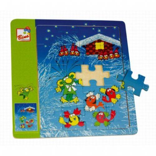 Bino Rákosníček dřevěné puzzle cena od 99 Kč