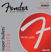 Fender Super Bullet Strings, Nickel Plated Steel, Bullet End, 3250LR Gauges .009-.046