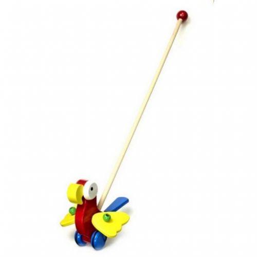 Legler dřevěné tahací Strkadlo Papoušek