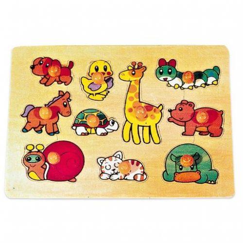 Legler dřevěné puzzle zvířata cena od 161 Kč