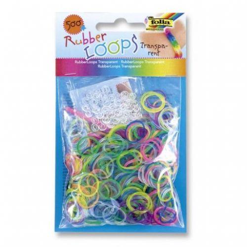 Folia Gumičky Loops Průhledné Transparent 500 ks cena od 56 Kč