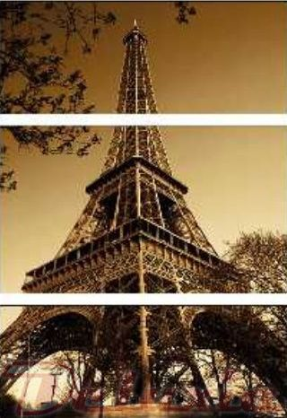 EVK Eiffelova věž obraz 3 díly