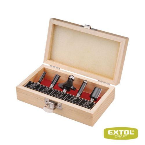 EXTOL Frézy tvarové do dřeva s SK plátky 5 ks cena od 131 Kč