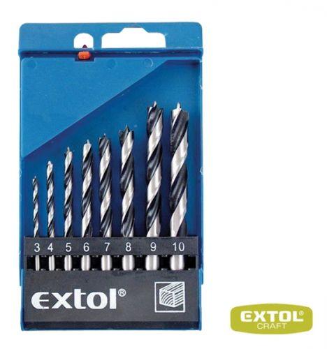 EXTOL Vrtáky do dřeva 3-4 -5-6-7-8-9-10 mm