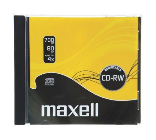 MAXELL CD-RW 700 MB 4x 1PK JC