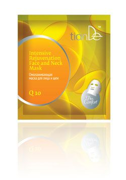TianDe Intenzivní omlazující maska na obličej a krk Q10