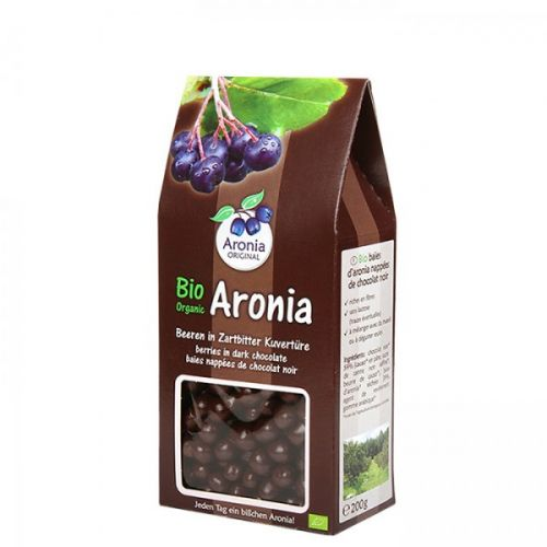 Aronia original Arónie BIO sušené plody v hořké čokoládě 200 g
