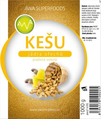 AWA superfoods Kešu oříšky natural 1 kg