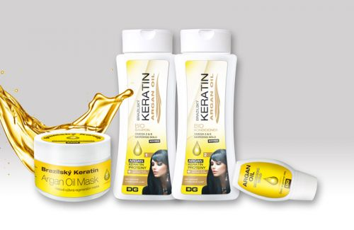 Beauty Lashes Keratin Argan oil sada 4 ks