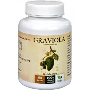 Natural Medicaments Graviola Annona muricata 90 kapslí
