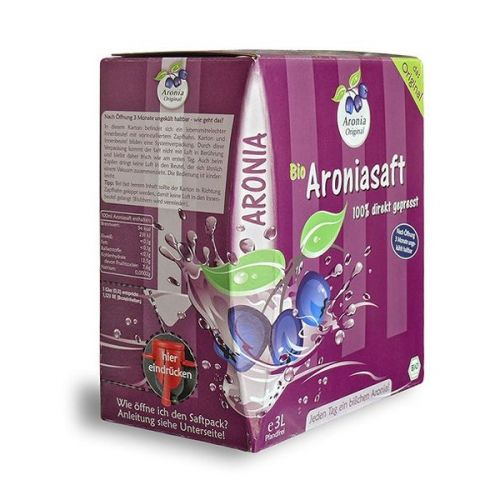 Aronia original Arónie BIO 100 % přímo lisovaná šťáva 3 l