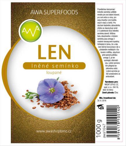 AWA superfoods Lněné semínko loupané 1000 g