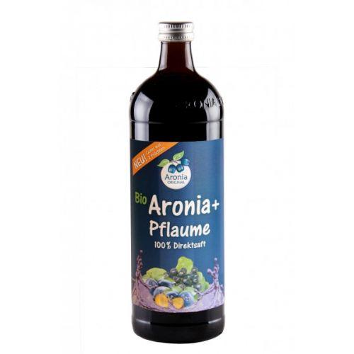 Aronia original Arónie + švestka BIO 100% čistá šťáva 0,7 l