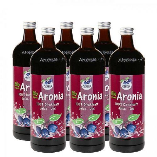 Aronia original Arónie BIO 100% přímo lisovaná šťáva 6x0,7 l