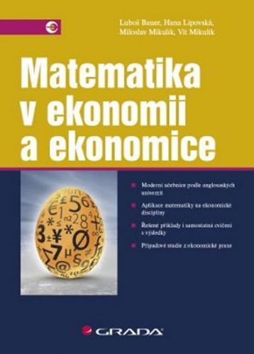 Matematika v ekonomii a ekonomice cena od 311 Kč