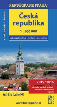 Kartografie PRAHA Automapa ČR 1:500 000 cena od 99 Kč