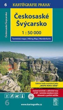 Kartografie PRAHA Českosaské Švýcarsko 1:50 000 cena od 89 Kč