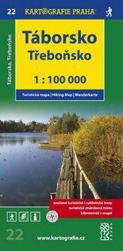 Kartografie PRAHA Táborsko Třeboňsko 1:100 000 cena od 55 Kč