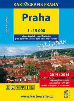 Kartografie PRAHA Velký atlas Prahy 1:15 000 cena od 116 Kč