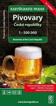 Kartografie PRAHA Pivovary České Republiky 1:500 000 cena od 105 Kč